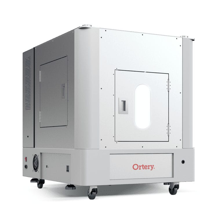 The Ortery PhotoBench 180 is a software-controlled product photography lightbox with a built-in turntable for creating 360 product photos on a pure white background.